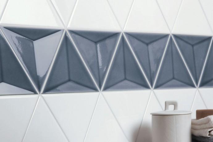 Triangular tiles - storm glossy 3d