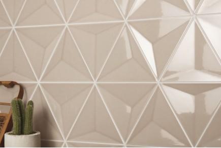 Dreieckige Fliesen - Polierte Karamel 3d