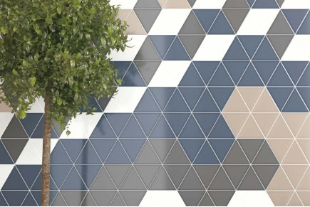 Carrelage triangulaires - Mix flat glossy