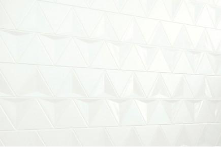Dreieckige Fliesen - Polierte Weiß und Matt 3D-Mischung
