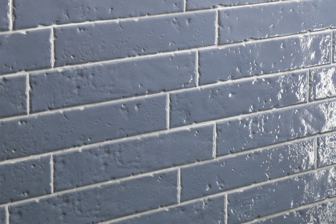London glossy brick tiles - lagoon