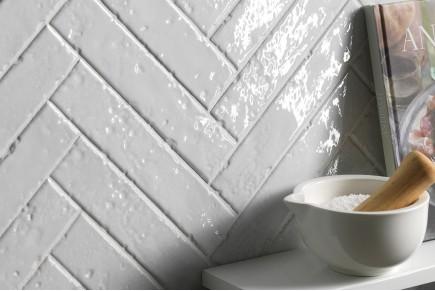 London glossy brick tiles - white
