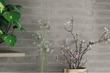 Grau Wandfliesen Ziegeloptik glasiert