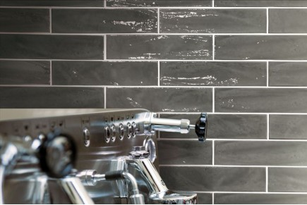 American glossy brick tiles - dark grey