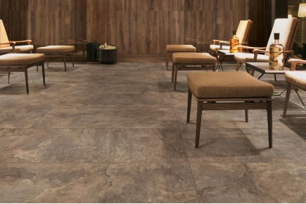Taupe rock effect stone