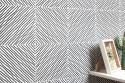 Hypnotic strip tiles - black and white
