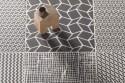 Carreaux à motif géométrique - Mélange de noir et blanc