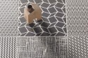 Geometric pattern tiles - Mix black and white