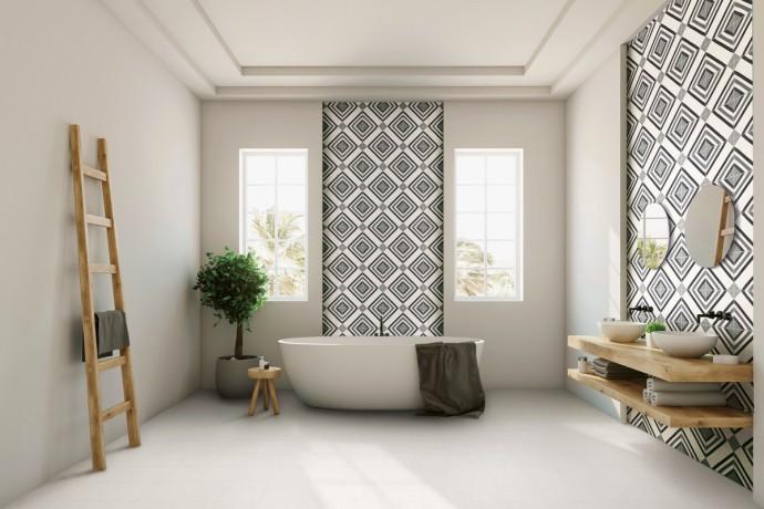 Op Art pattern grey 04