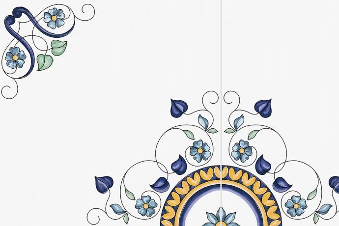 Retrò hand-decorated flower decorum
