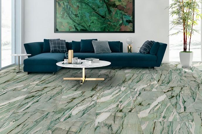 Glänzender grün marmor