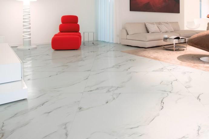 Calacatta marbre semi-brillant