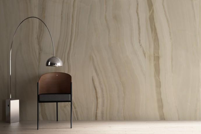 Glänzender hellgraue Ader marmor