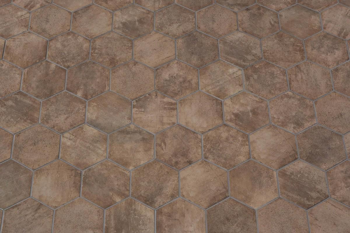Gres porcellanato rustico manoir brown 18 2x21 ceramiche crz64 - Gres rustico ...
