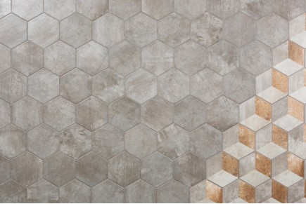 Rustic tiles Manoir Grigio decorum
