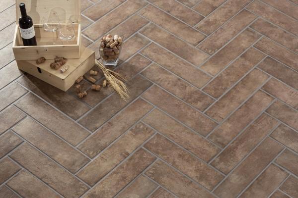 carrelage rustique manoir tabacco 12 5x50 ceramiche crz64. Black Bedroom Furniture Sets. Home Design Ideas