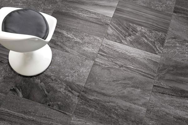 Gres porcellanato effetto pietra morbida antracite 30x60 ceramiche