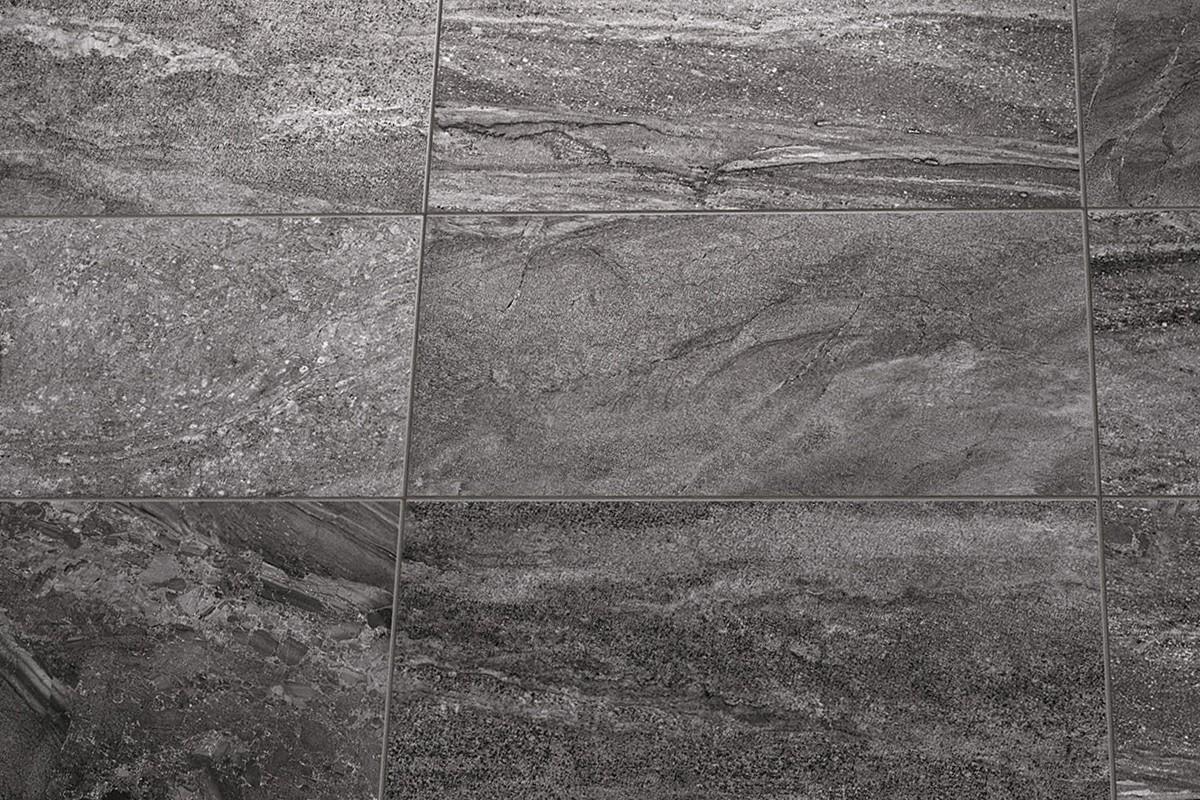 Gres porcellanato effetto pietra morbida antracite ceramiche