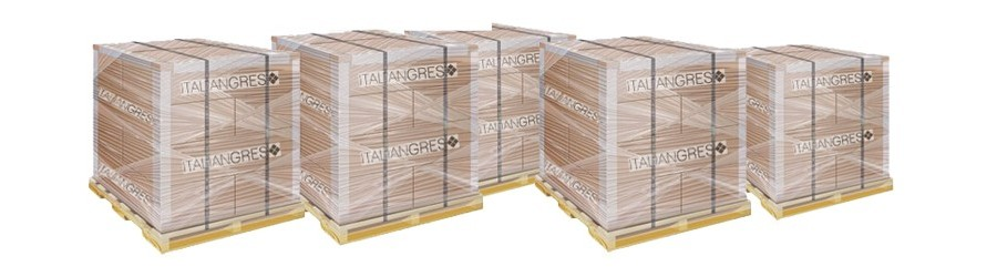 Palletized stock tiles